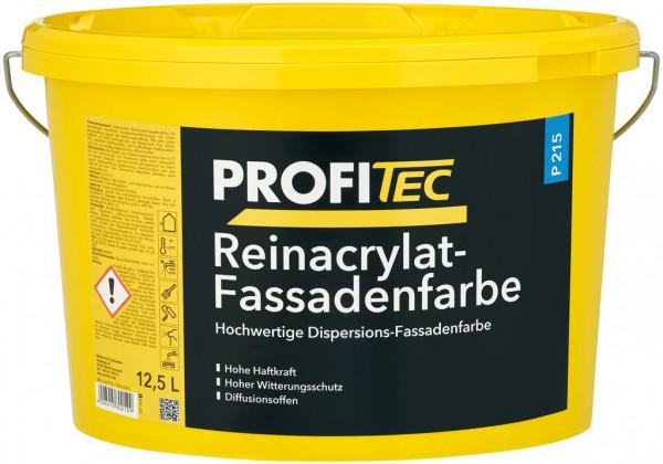 wbv24-Profitec Reinacrylat-Fassadenfarbe, P 215,weiß, matt 12,5 l