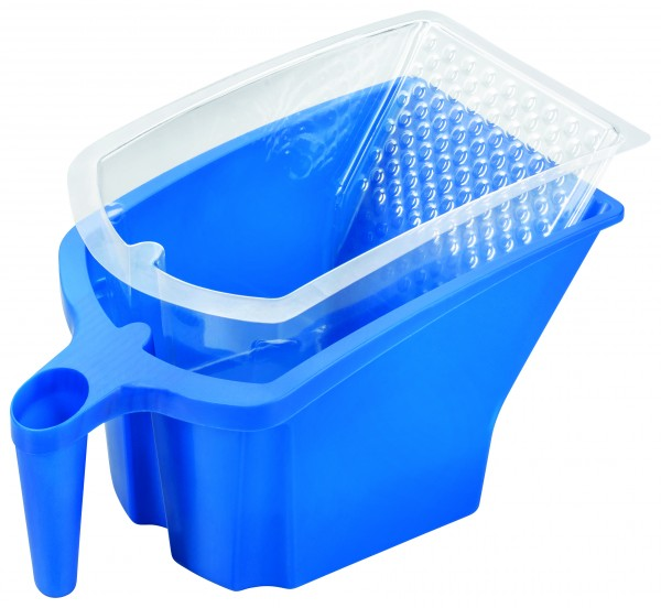 Storch Set Farbbecher Kunststoff blau mit 10x Farbbechereinsatz transparent 285110