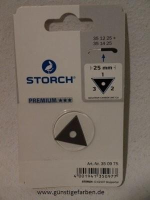 Storch Ersatzklinge 25mm Dreikant PREMIUM-Qualität 35 09 75
