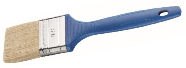 WBV24 - Storch Flach-Pinsel helle China-Borste mit blauem Kunststoffstiel