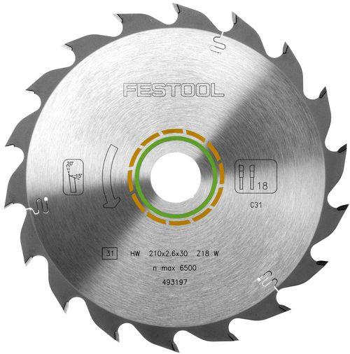 WBV24 - Festool Standard-Sägeblatt 210x2,6x30 W18 493197