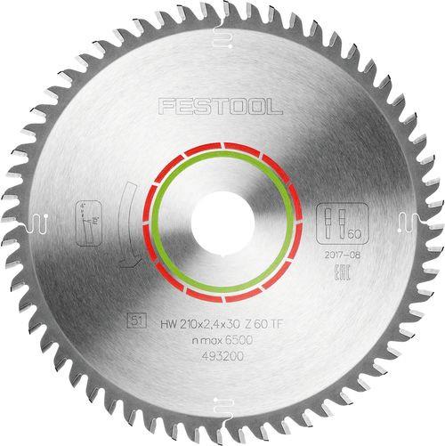 Festool Spezial-Sägeblatt 210x2,4x30 TF60 493200