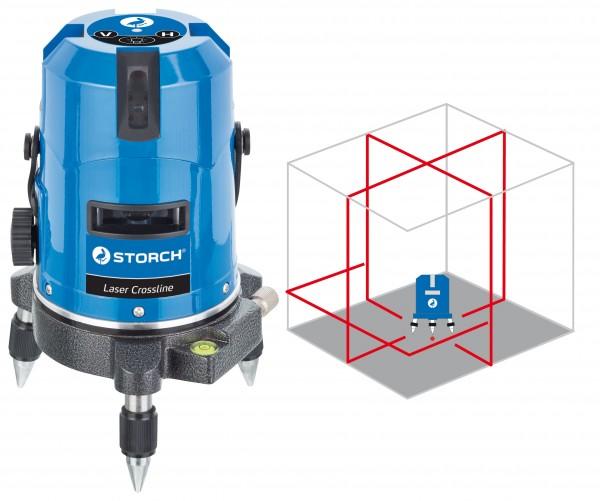 Storch Strich-Laser Crossline magnetisch selbstnivelli 44 15 10