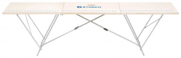 Storch Tapeziertisch 80 x 320cm Holzrahmen Höhe 90cm 55 03 80
