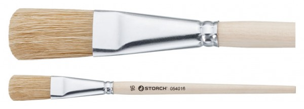 Storch Emaillelack-Pinsel 12 05 40 12 Storch Emaillelack - Pinsel Der Storch Emaillelack-Pinsel ist aus heller China-Borste gefertigt. Flach - oval, grober Universalpinsel